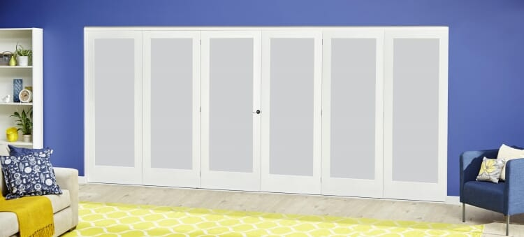 White P10 Frosted Roomfold Deluxe ( 3 + 3 X 686mm Doors ) Image