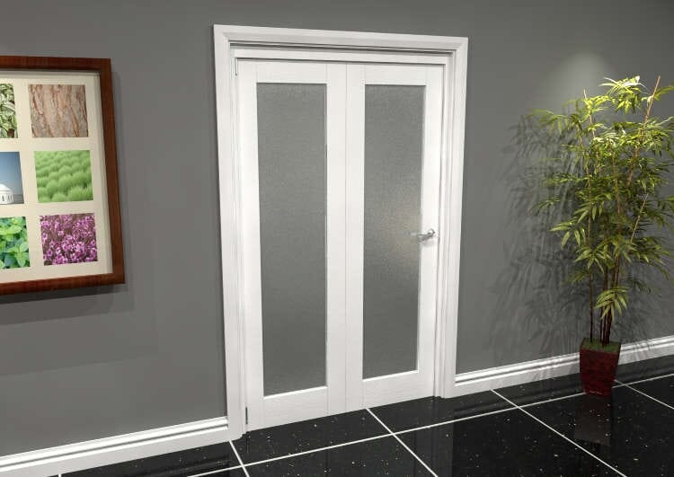 White P10 Frosted Roomfold Grande (2 + 0 X 573mm Doors) Image