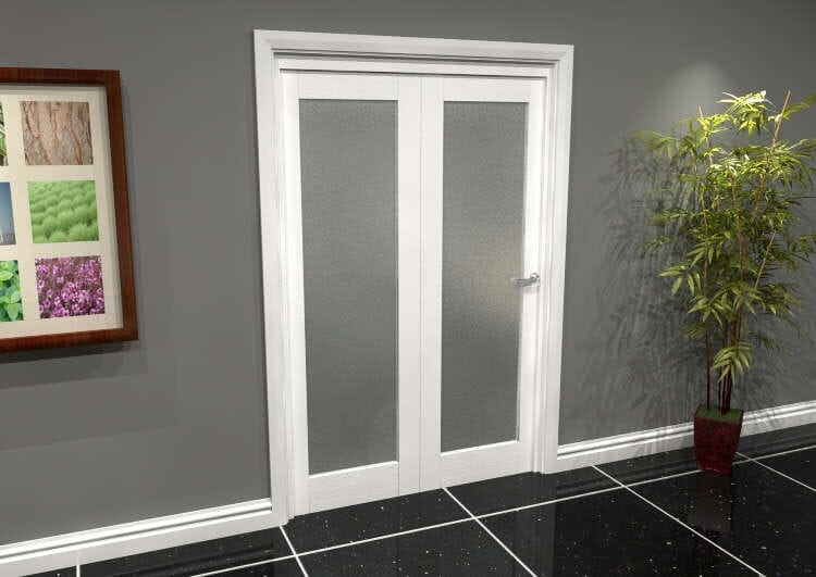 White P10 Frosted Roomfold Grande (2 + 0 X 610mm Doors) Image