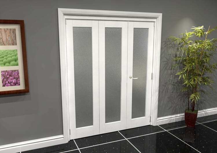 White P10 Frosted Roomfold Grande (2 + 1 X 533mm Doors) Image