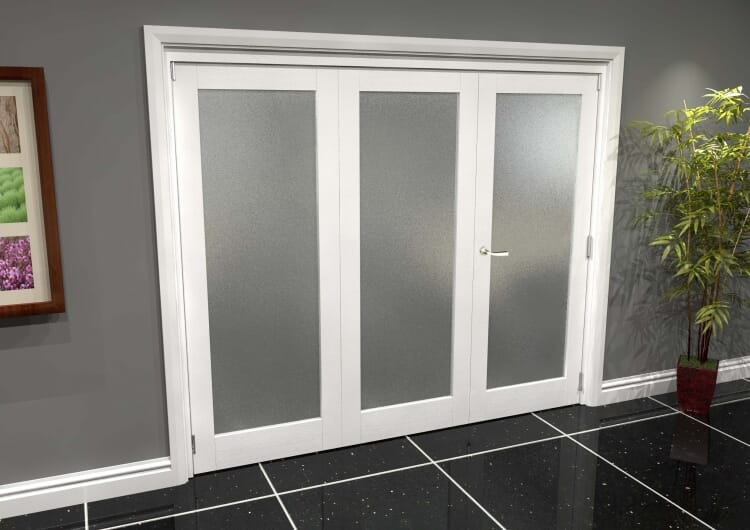 White P10 Frosted Roomfold Grande (2 + 1 X 762mm Doors) Image