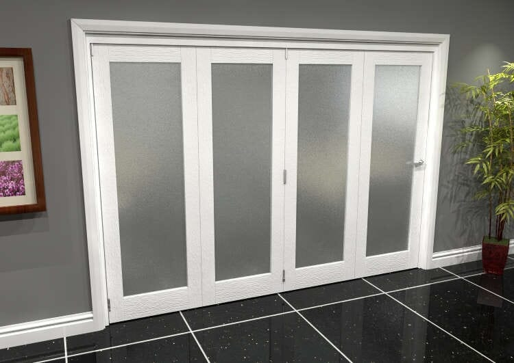 White P10 Frosted Roomfold Grande (4 + 0 X 686mm Doors) Image