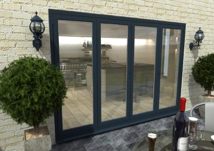 3000mm ( 3 + 1 ) Grey Aluminium Bifold Doors - Climadoor Image