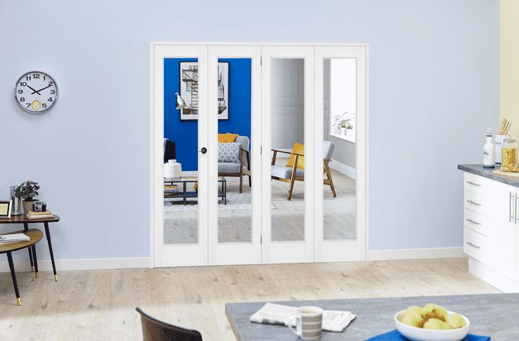 Slimline White P10 Roomfold Deluxe ( 4 X 419mm Doors ) Image