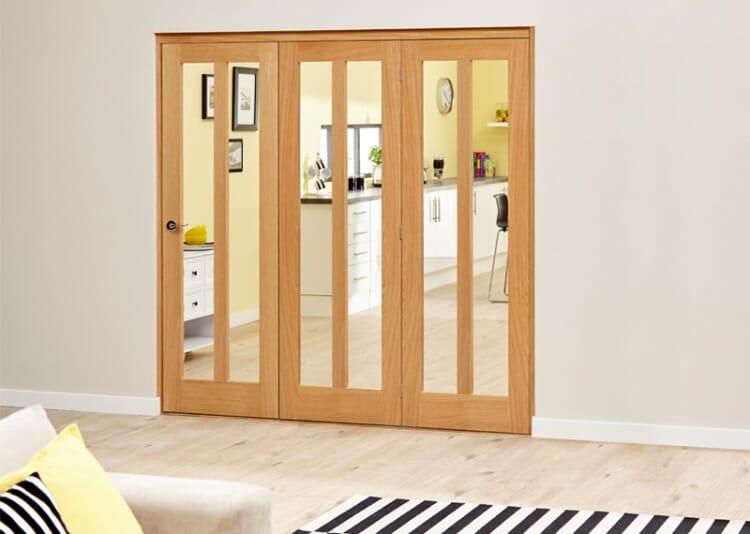 Aston Oak - 3 Door Roomfold Deluxe (3 X 610mm Doors ) Image