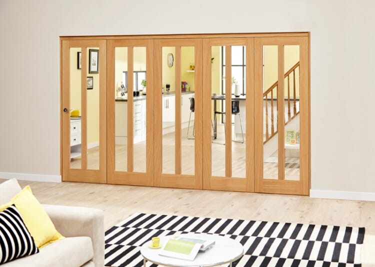 Aston Oak - 5 Door Roomfold Deluxe (5 X 610mm Doors) Image