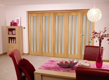Aston Oak Frosted - 5 Door Roomfold (5 X 2