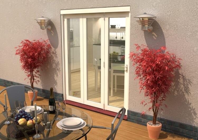 Climadoor Classic White Bi Fold Door 1800mm Image
