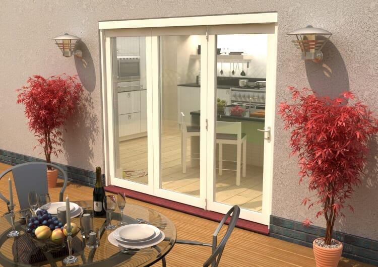 Climadoor Classic White Bi Fold Door 2400mm Image