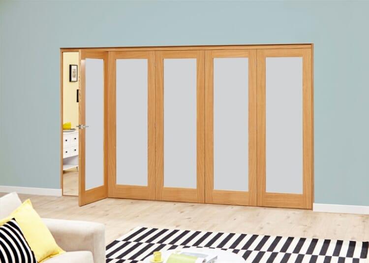 Frosted Glazed Oak - 5 Door Roomfold Deluxe (5 X 2