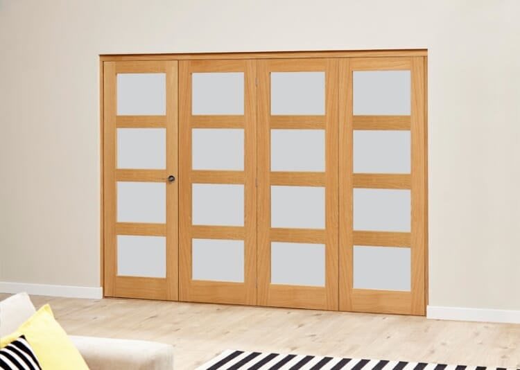 Frosted Prefinished 4l Roomfold Deluxe (4 X 762mm Doors) Image