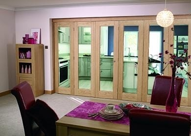 Glazed Oak - 6 Door Roomfold (3 + 3 X 2