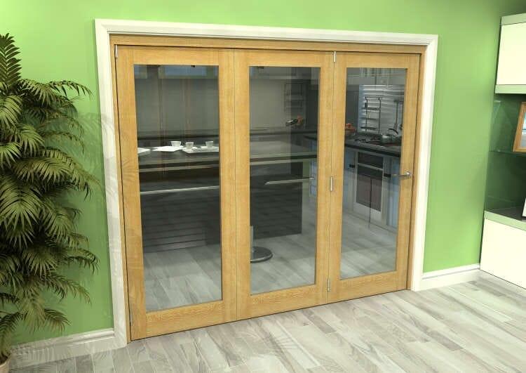 Glazed Oak 3 Door Roomfold Grande (3 + 0 X 762mm Doors) Image