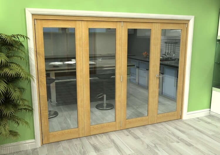 Glazed Oak 4 Door Roomfold Grande (3 + 1 X 762mm Doors) Image