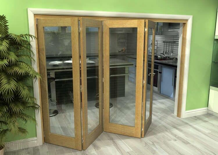 Glazed Oak 4 Door Roomfold Grande (4 + 0 X 686mm Doors) Image