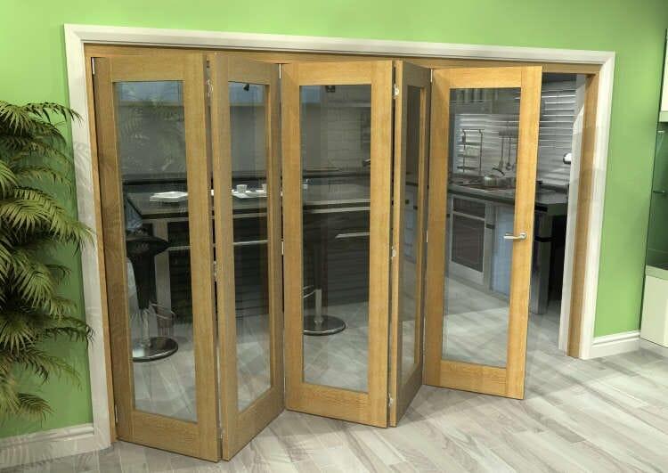 Glazed Oak 5 Door Roomfold Grande (5 + 0 X 762mm Doors) Image