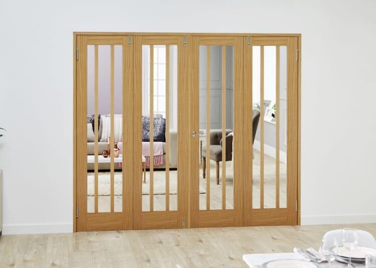 Lincoln Oak - 4 Door Frenchfold (4 X 686mm Doors ) Image