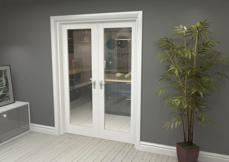"P10 White French Door Set  - 27"" Pair Image"
