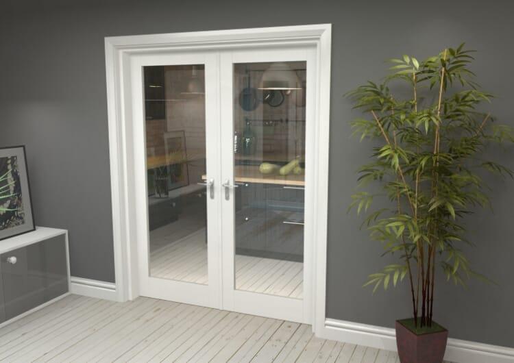 "P10 White French Door Set  - 30"" Pair Image"