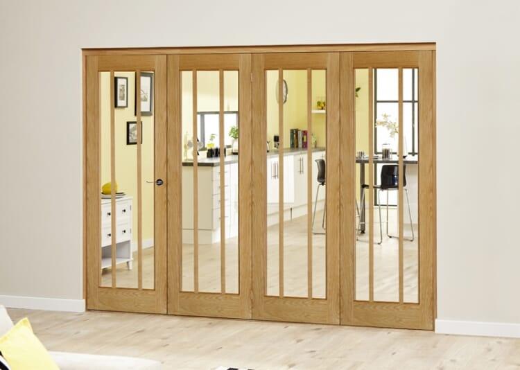Lincoln Oak 4 Door Roomfold Deluxe (4 X 686mm Doors) Image