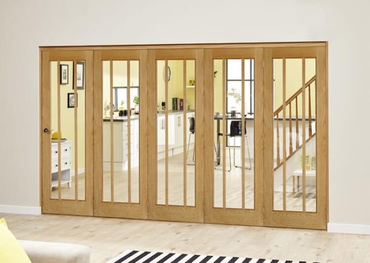 Lincoln Oak 5 Door Roomfold Deluxe (5 X 762mm Doors) Image