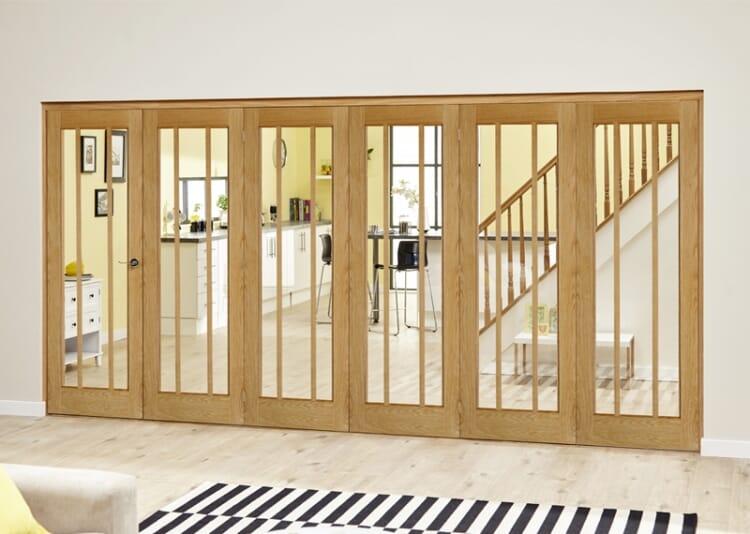 Lincoln Oak 6 Door Roomfold Deluxe (5 + 1 X 686mm Doors) Image