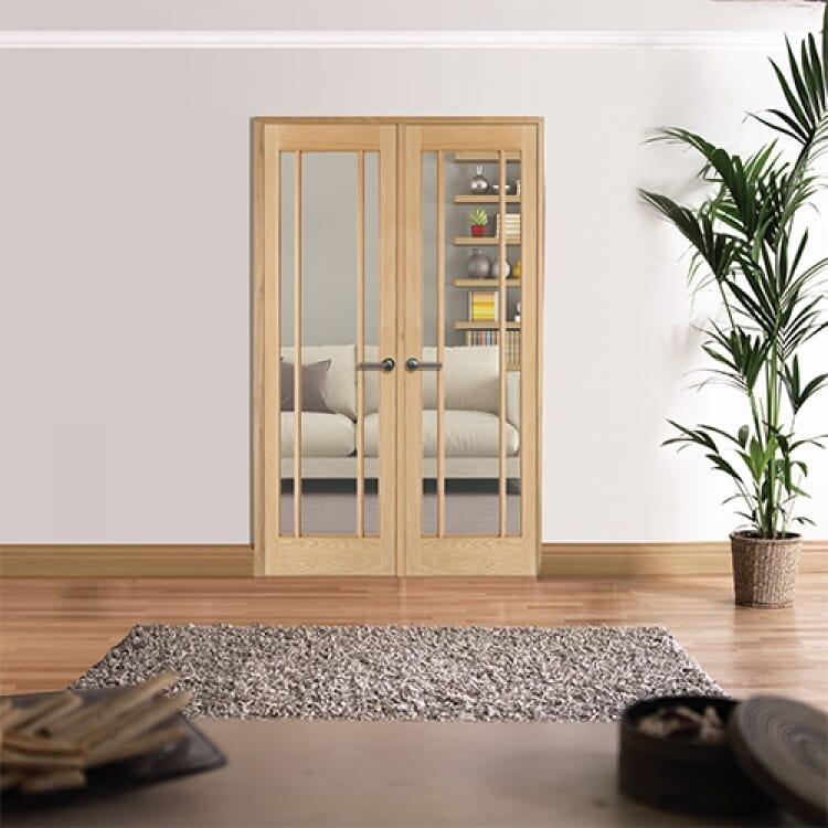 W4 Lincoln Oak Internal Room Divider Image