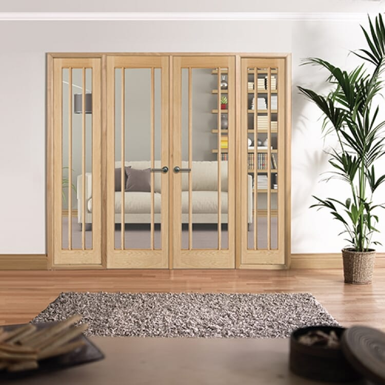 W8 Lincoln Oak Internal Room Divider Set With Sidelights Image