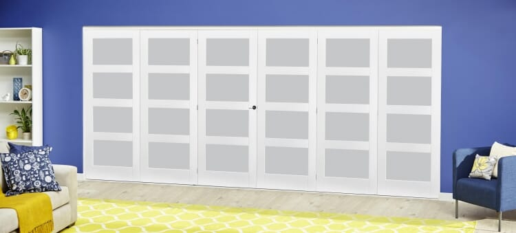 White 4l Frosted Roomfold Deluxe ( 3 + 3 X 686mm Doors ) Image