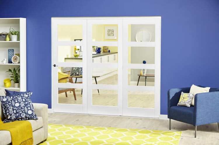 White 4l Roomfold Deluxe ( 3 X 762mm Doors ) Image