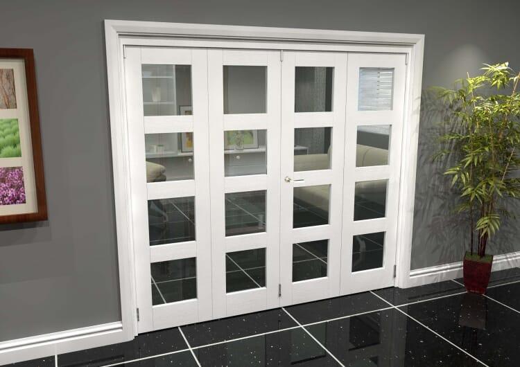 White 4l Roomfold Grande 2400mm (8ft) 2 + 2 Set Image