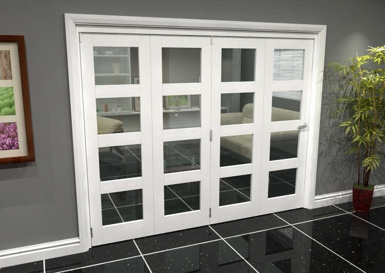 White 4l Roomfold Grande (4 + 0 X 610mm Doors) Image