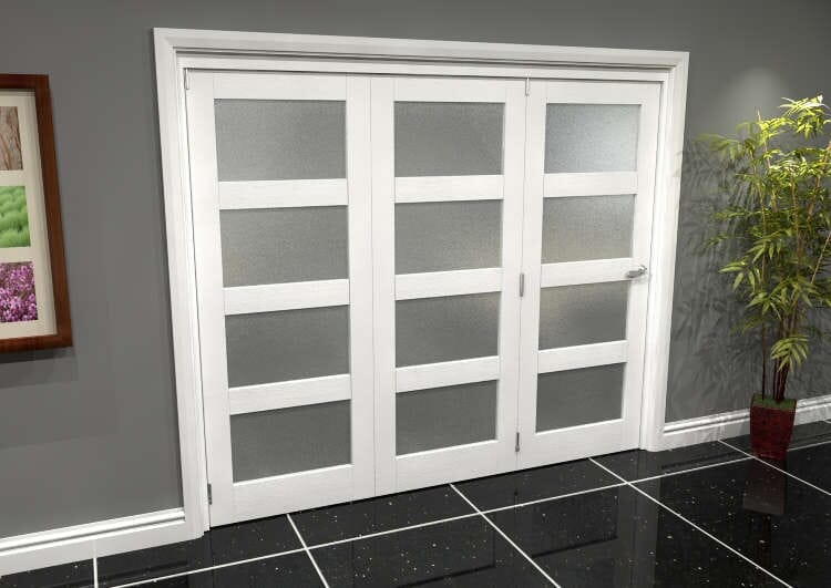 White Frosted 4l Roomfold Grande (3 + 0 X 762mm Doors) Image