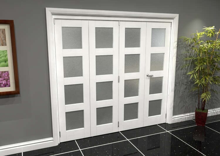 White Frosted 4l Roomfold Grande (3 + 1 X 533mm Doors) Image