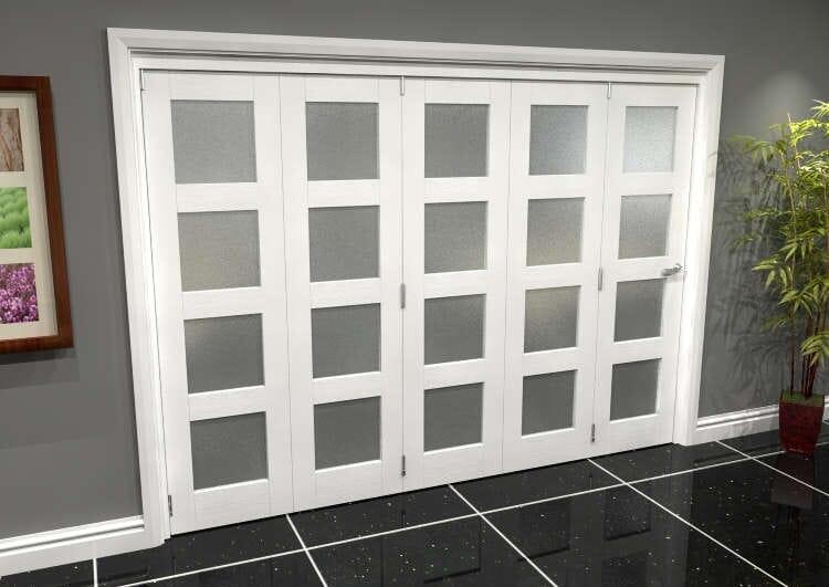 White Frosted 4l Roomfold Grande 3000mm (10ft) 5 + 0 Set Image