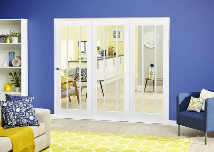 White Lincoln Roomfold Deluxe ( 3 X 686mm Doors) Image