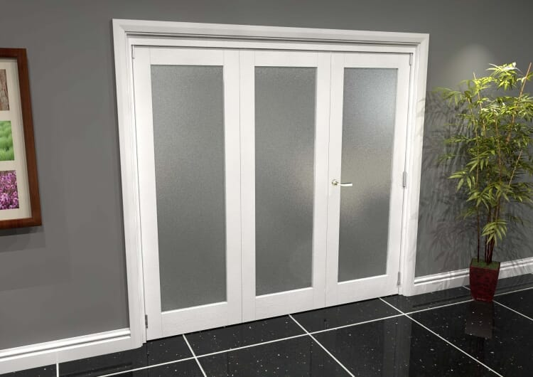 White P10 Frosted Roomfold Grande (2 + 1 X 686mm Doors) Image
